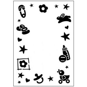 Crafts Too Hintergrund-Prägeschablone - Baby Frame