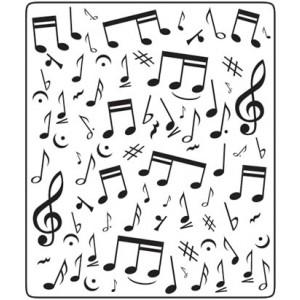 Crafts Too Hintergrund-Prägeschablone - Music Notes 12,5 x 15