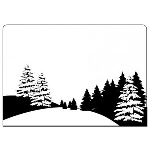Crafts Too Hintergrund-Prägeschablone - Pine Tree Scene