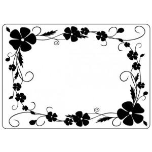 Crafts Too Hintergrund-Prägeschablone - Pansy Frame