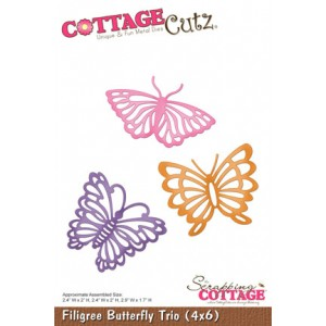 CottageCutz Stanze - Filigree Butterfly Trio (4x6)