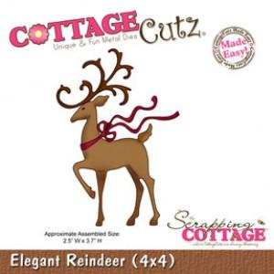 CottageCutz Stanze - Elegant Reindeer (4x4)