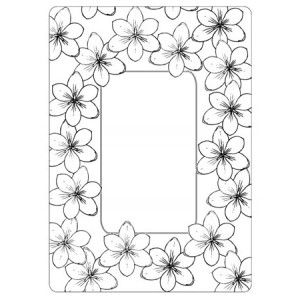 Crafts Too Hintergrund-Prägeschablone - Tulip Frame