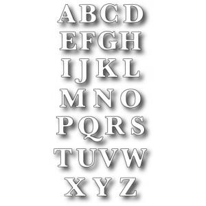 Memory Box Stanzschablone - Classic Upper Alphabet