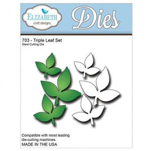 Elizabeth Craft Design Stanzschablone - Triple Leaf Set