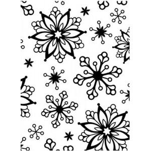 Darice Hintergrund-Prägeschablone - Snowflakes