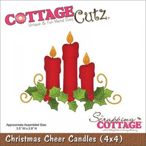CottageCutz Stanze - Christmas Cheer Candles (4x4)
