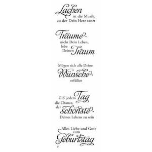 Karten-Kunst Clear Stamp Set - Weise Worte zum Geburtstag
