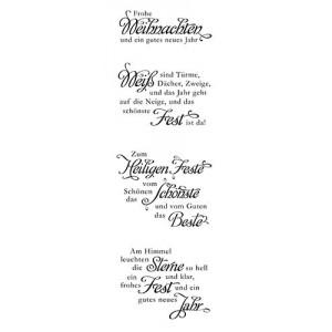 Karten-Kunst Clear Stamp Set - Weise Worte zu Weihnachten