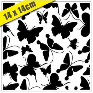 Crafts Too Hintergrund-Prägeschablone - 3103 Butterflies 14 x 14 cm