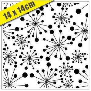 Crafts Too Hintergrund-Prägeschablone - 3105 Dandelions 14 x 14 cm