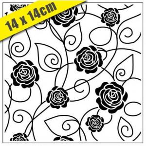 Crafts Too Hintergrund-Prägeschablone - 3108 Dark Roses 14 x 14
