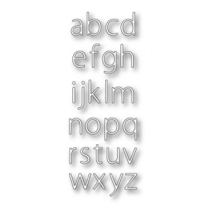 Memory Box Stanzschablone - Urban Lowercase Alphabet