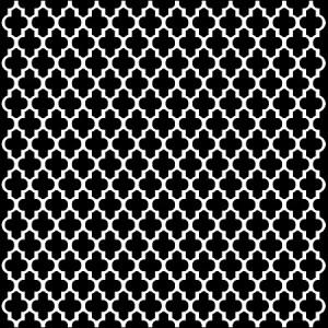 "Crafter\'s Workshop Template 6\""X6\"" - Quatrefoil"