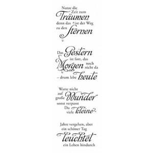"""Karten-Kunst Clear Stamp Set - Weise Worte """"Zeit"""""""