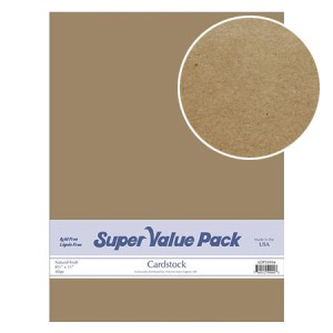 Paper Accents Cardstock Super Value Pack Natural Kraft 40 Blatt