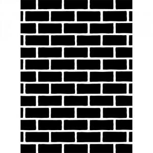 Darice Hintergrund-Prägeschablone - Brick Pattern
