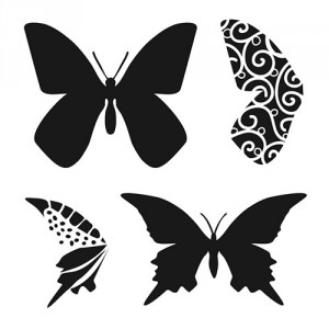 "Crafter\'s Workshop Template 6""X6\"" - Butterflies"