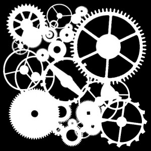 """Crafter's Workshop Template 6""""X6"""" - Gears"""