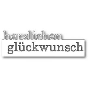 Memory Box Stanzschablone - Grand Herzlichen Glückwunsch