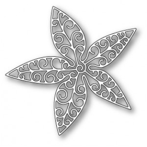Poppy Stamps Stanzschablone - Luxe Poinsettia Outline