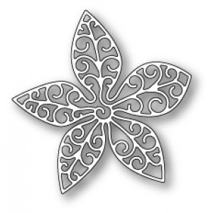 Poppy Stamps Stanzschablone - Small Luxe Poinsettia Outline