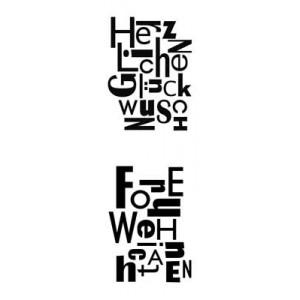 Karten-Kunst Clear Stamp Set - Buchstabenblöcke