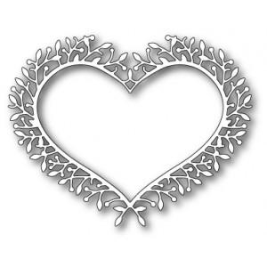 Poppy Stamps Stanzschablone - Woodland Heart Frame