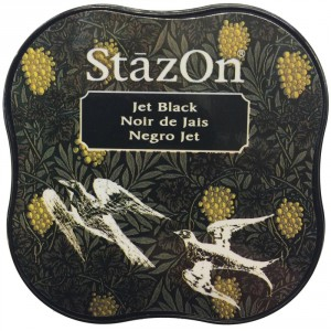 StazOn Midi Ink Pad Stempelkissen - Jet Black