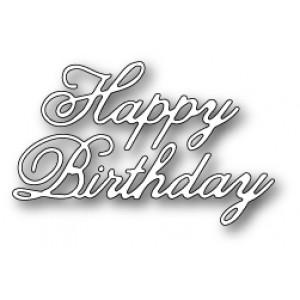 Poppy Stamps Stanzschablone - Vintage Happy Birthday