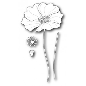 Poppy Stamps Stanzschablone - Large Iceland Poppy