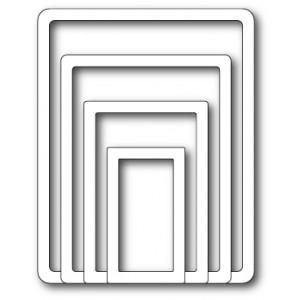 Memory Box Open Studio Stanzschablone - Shaker Rectangle Frames