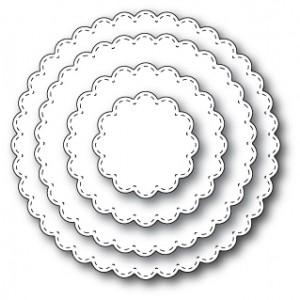 Memory Box Open Studio Stanzschablone - Stitched Scalloped Circles