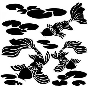 "Crafter\'s Workshop Template 6""X6\"" - Koi Pond"
