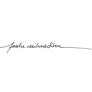 """Karten-Kunst Schriftzug """"Frohe Weihnachten"""" (Anne)"""
