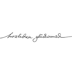 """Karten-Kunst Schriftzug """"Herzlichen Glückwunsch"""" (Anne)"""