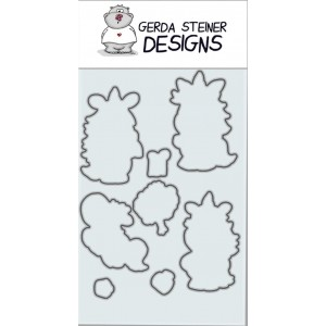 Gerda Steiner Designs - Moody Unicorns Stanzschablonen-Set