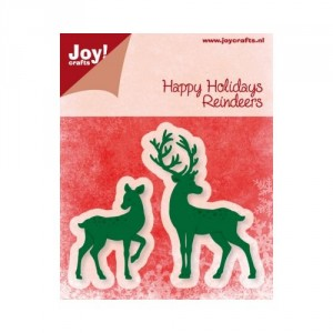 JoyCrafts Stanzschablone - Happy Holiday Reindeers