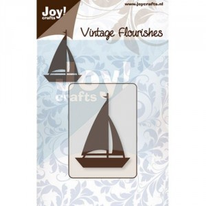 JoyCrafts Stanzschablone - Vintage Flourishes Sailboat