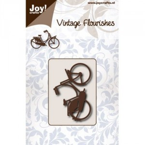 JoyCrafts Stanzschablone - Vintage Flourishes Bicycle