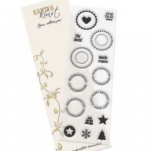 Karten-Kunst Clear Stamp Set - Runde Siegel