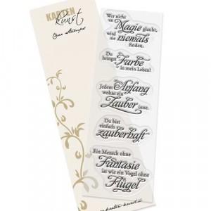 """Karten-Kunst Clear Stamp Set - Weise Worte """"Magie"""""""