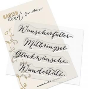 """Karten-Kunst Clear Stamp Set - Große Worte """"Wunscherfüller"""""""