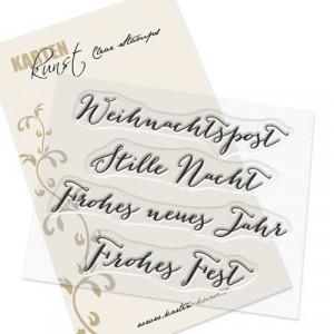 Karten-Kunst Clear Stamp Set - Große Worte Weihnachtspost