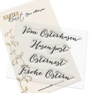 "Karten-Kunst Clear Stamps KK-0032 - Große Worte ""vom Osterhasen"""