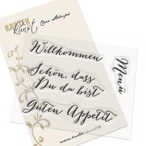 "Karten-Kunst Clear Stamps KK-0034 - Große Worte ""Willkommen"""