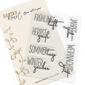 """Karten-Kunst Clear Stamp Set - Capri """"Jahreszeiten"""""""