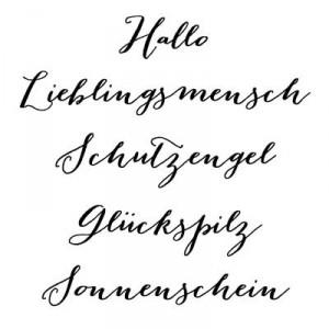 """Karten-Kunst Clear Stamp Set - Große Worte """"Lieblingsmensch"""""""