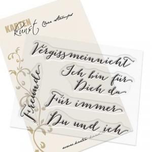 """Karten-Kunst Clear Stamp Set - Große Worte """"Vergissmeinnicht"""""""
