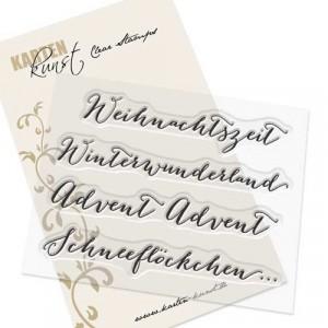 """Karten-Kunst Clear Stamp Set - Große Worte """"Weihnachtszeit"""""""